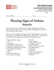 Warning Signs of Asthma Attacks #30 - Phoenix Children's Hospital
