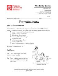 Constipation (Estreñimiento) #367/8s - Phoenix Children's Hospital