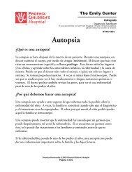 Autopsy (Autopsia) 776/723s - Phoenix Children's Hospital
