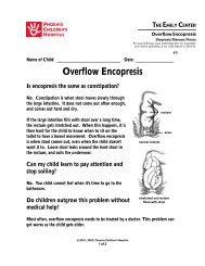Overflow Encopresis 9 - Phoenix Children's Hospital