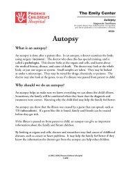 Autopsy 723 - Phoenix Children's Hospital