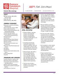 Lupus Clinic - Phoenix Children's Hospital