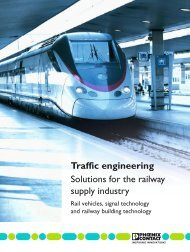 olutions for the railway supply industry - Phoenix Contact
