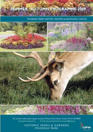 Summer/Autumn Programme - Phoenix Park