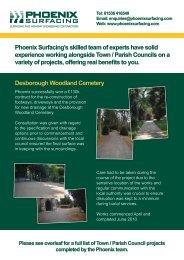 Town & Parish Council Case Study - Phoenix Surfacing