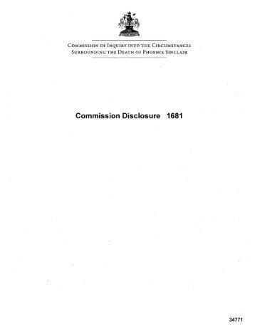 Commission Disclosure 1681 - Phoenix Sinclair Inquiry