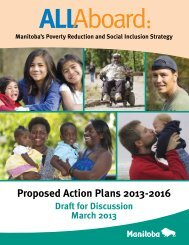 Proposed All Aboard Action Plan - Government of Manitoba