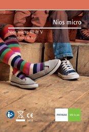 Nios micro III & V - Phonak