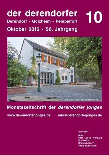 der derendorfer Oktober 2012 - 56. Jahrgang Derendorf