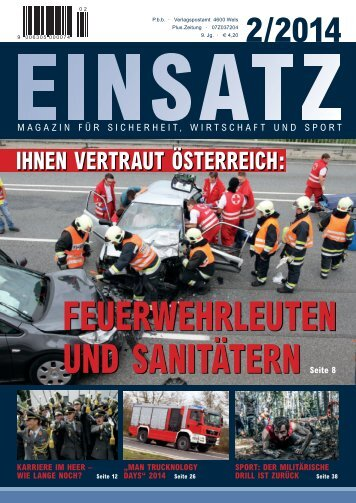 EINSATZ Magazin für  Sicherheit, Wirtschaft und Sport