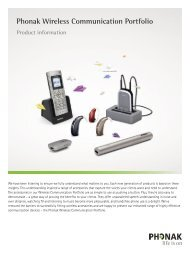 Product Information Phonak Wireless Communication Portfolio