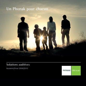 Un Phonak pour chacun, Solutions Auditives