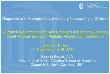 Diagnosis and Management of Auditory Neuropathy in ... - Phonak