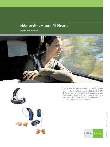 Aides auditives sans fil Phonak