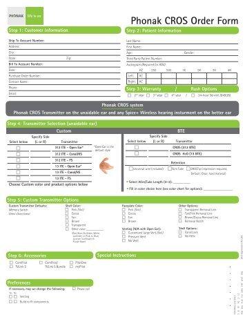 CROS Order Form