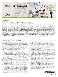 Phonak Insight Roger Der neue drahtlose Technologie-Standard