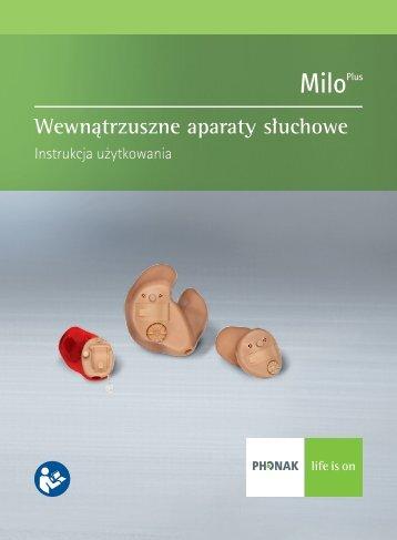 Instrukcja użytkowania Milo Plus ITE - Phonak