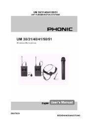 UM30/31/40/41/50/51 - Phonic