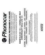 SAAB 9.3-9.5 '06> - CADILLAC BLS CHEVROLET ... - Phonocar