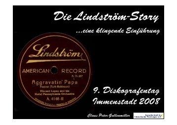 Die Lindström-Story - Gesellschaft für Historische Tonträger
