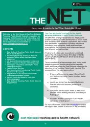 TPHN Newsletter July 2009 - PHORCaST - Public Health Online ...