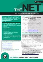 TPHN Newsletter November 2009 - PHORCaST - Public Health ...
