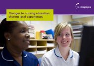 Changes to nursing education: sharing local ... - NHS Employers