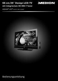 Receiver (SAT, DVB-T, Decoder etc.) anschließen - Medion