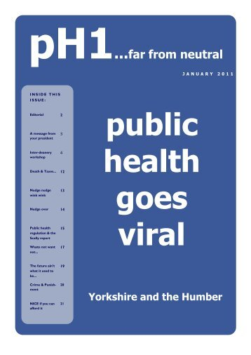 January 2011 - PHORCaST - Public Health Online Resource for ...