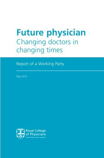 RCP Social Determinants of Health - Future Physician Report