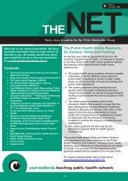 TPHN Newsletter October 2008 - PHORCaST - Public Health Online ...