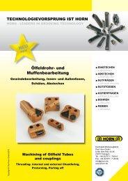 NEU Ölfeldrohr- und Muffenbearbeitung - Horn USA, Inc.