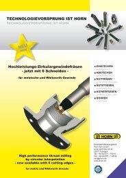 TECHNOLOGIEVORSPRUNG IST HORN - Horn Cutting Tools Ltd.