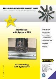 Nutfräsen mit System 275 - Horn USA