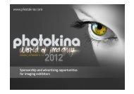 Sponsorship and advertising opportunities for imaging ... - Photokina