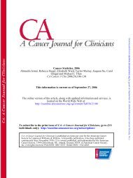 2006;56;106-130 CA Cancer J Clin Smigal and Michael J. Thun ...