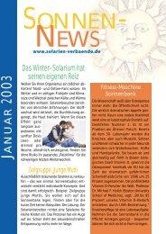 dazu in den Sonnen-News Januar 2003 - auf Akademie fuer ...