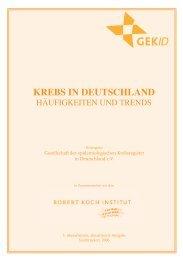 Krebs in Deutschland. Häufigkeiten und Trends - Hodenkrebs
