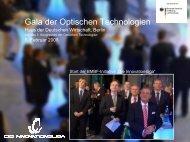 Gala der Optischen Technologien - PhotonicNet GmbH