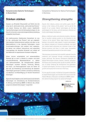 Kompetenznetz Optische Technologien in Deutschland