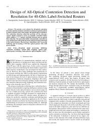 Design of All-Optical Contention Detection and Resolution for 40-Gb ...