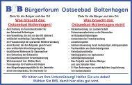 Ostseebad Boltenhagen - Bürgerforum - BfB - Programmaussage - Kommunalwahl 2014