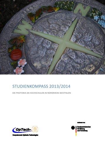 Studienkompass 2013/2014 - DIE PHOTONIK ... - Photonik Campus