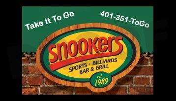 Print This Coupon - Snookers