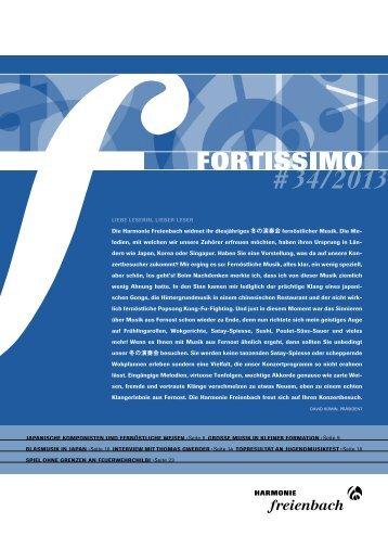 fortissimo #34 - Harmonie Freienbach
