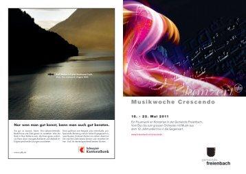 Programm Crescendo Woche - Harmonie Freienbach