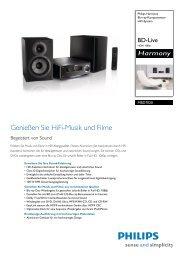 MBD7020/12 Philips Blu-ray-Komponenten Hifi-System