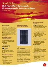 Shell Solar - Photovoltaik