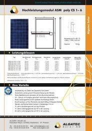ASM poly CS 1 - 6 d - e - Photovoltaik