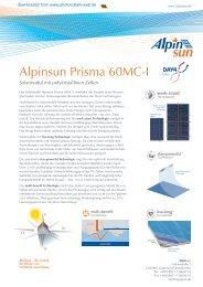 Alpinsun Prisma 60MC-I - Photovoltaik